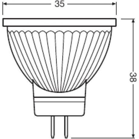 Lampa punktowa LED PARATHOM® MR11 12 V 35 36° 4 W/2700K GU4 10szt.