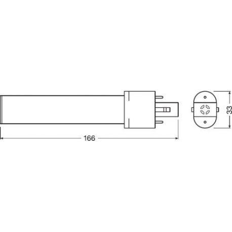 Tuba LED OSRAM DULUX® S LED EM & AC MAINS 4.5 W/3000K