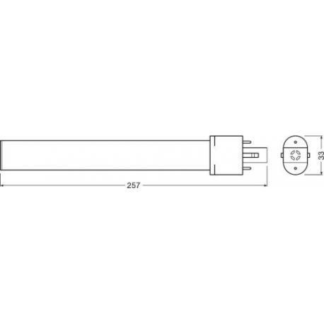Tuba LED OSRAM DULUX® S LED EM & AC MAINS 6 W/3000K