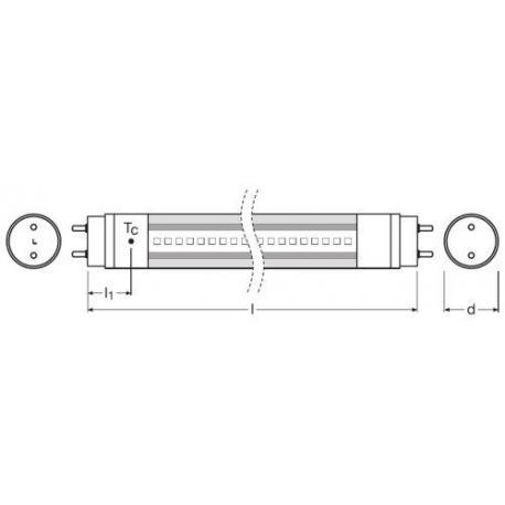 Tuba LED SubstiTUBE® ENTRY AC 8 W/4000K 600 mm