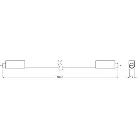 Tuba LED SubstiTUBE® T5 HE UN 10 W/4000K 849.0 mm