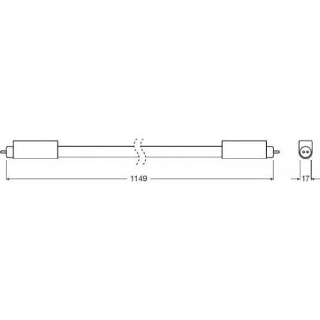 Tuba LED SubstiTUBE® T5 HE UN 17 W/3000K 1149 mm