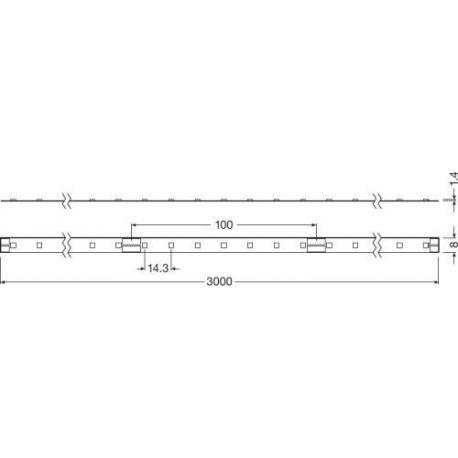 Oprawa oświetleniowa LED LINEARlight FLEX® POWER 3000 -G3-850-03