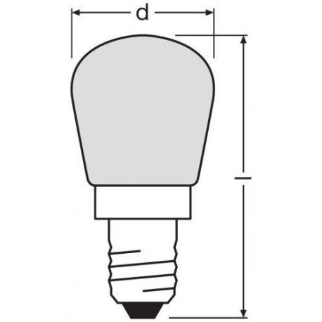 Kształt żarówki SPECIAL T/FRIDGE 25 W 230 V E14