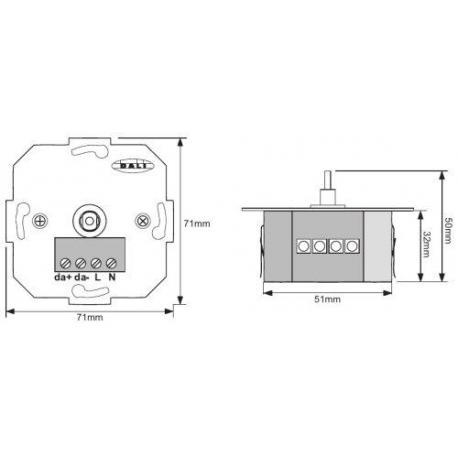 System sterowania oświetleniem DALI MCU