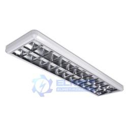 Lampa awaryjna Intelight Sawa LED 2x18 4000K 2h SA natynkowa