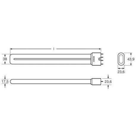 Świetlówka kompaktowa OSRAM DULUX® L LUMILUX® 24 W/840 2G11 10szt.