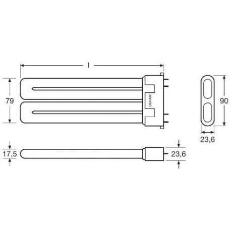 Świetlówka kompaktowa (jednotrzonkowa) OSRAM DULUX® F 18 W/830 2G10 10szt.