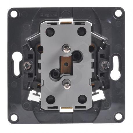 Celiane - Gniazdo wtyczkowe podwójne 2x2P+Z do instalacji w puszce pojedynczej
