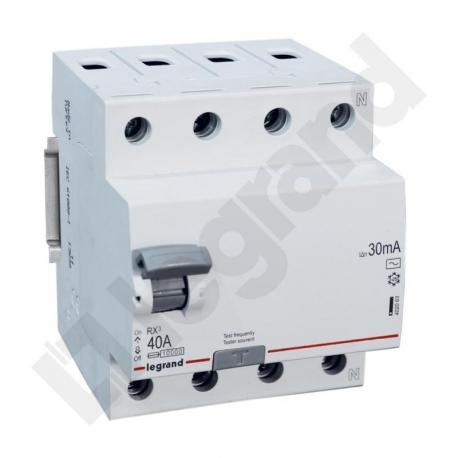 Wyłącznik różnicowoprądowy RX3 4P 40A 30MA TYP AC