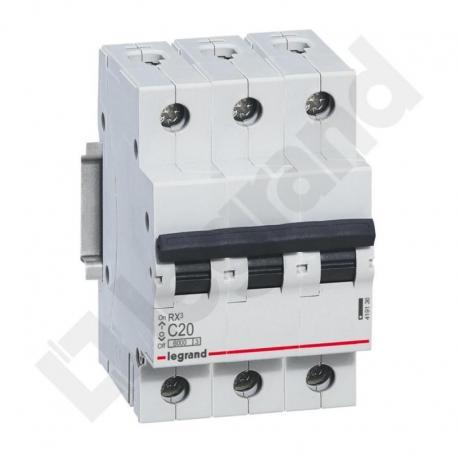 Wyłącznik nadprądowy RX3 3P C 20A 6000A