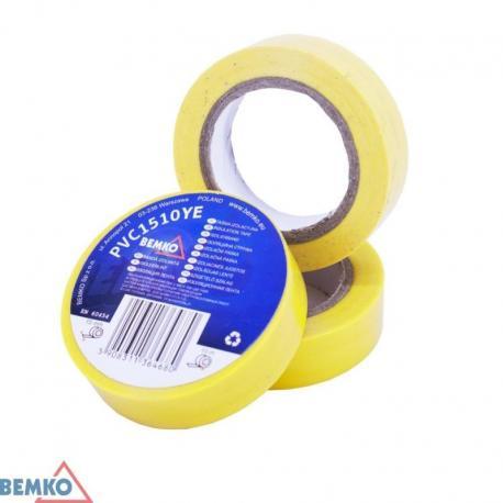 Bemko Taśma Izolacyjna 15X10M Żółta/Yellow