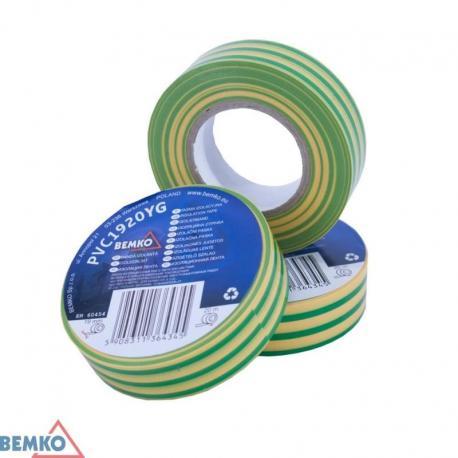 Bemko Taśma Izolacyjna 19X20M Żółto-Zielona/Yellow-Green