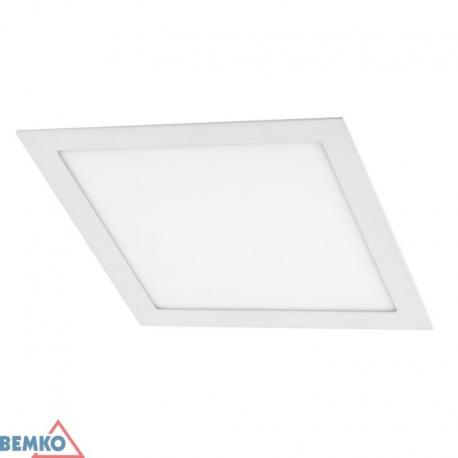 Bemko Downlight Led Boled 18W 3000K 1260Lm Ip20 Kwadrat Biały