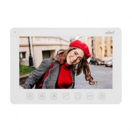 """Orno Wideo monitor bezsłuchawkowy, kolorowy, LCD 7"""" do zastosowania w systemach VIBELL, biały"""