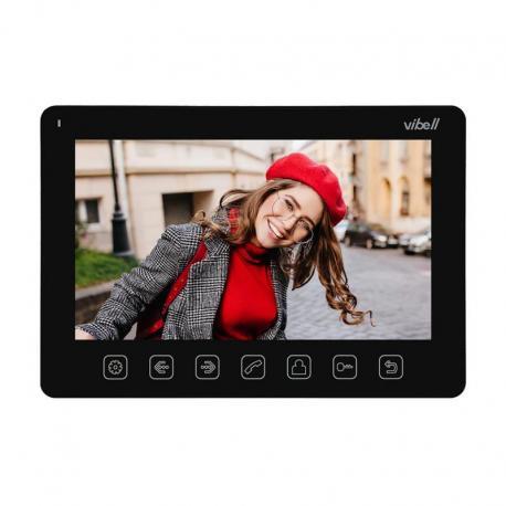 """Orno Wideo monitor bezsłuchawkowy, kolorowy, LCD 7"""" do zastosowania w systemach VIBELL, czarny"""