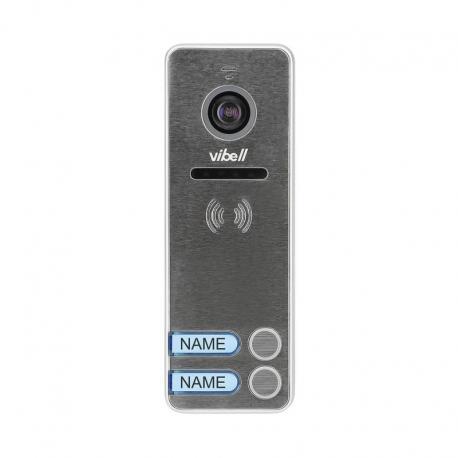 Orno Wideo kaseta 2-rodzinna z kamerą szerokokątną, kolor, wandaloodporna, diody LED, do zastosowania w systemach VIBELL