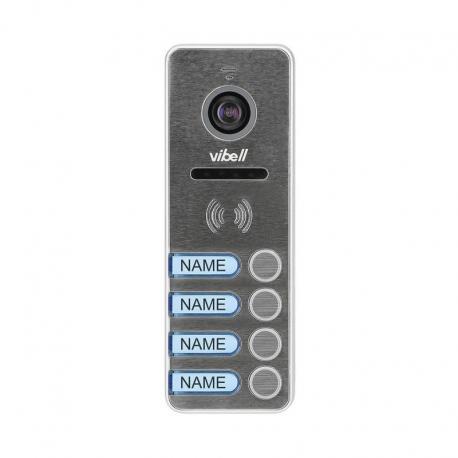 Orno Wideo kaseta 4-rodzinna z kamerą szerokokątną, kolor, wandaloodporna, diody LED, do zastosowania w systemach VIBELL