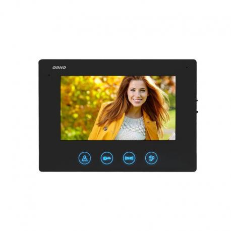 """Orno Wideo monitor bezsłuchawkowy, kolorowy, LCD 7"""", do zestawu z serii CERES, otwieranie bramy, czarny"""