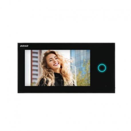 """Orno Wideo monitor bezsłuchawkowy, kolorowy, LCD 7"""", dotykowy, WI-FI, do zestawu APPOS, otwieranie bramy, czarny"""