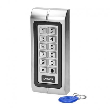 Orno Zamek szyfrowy wąski z czytnikiem kart i breloków zbliżeniowych, IP44 , 1 przekaźnik 3A , wymiary 128x82x28 mm