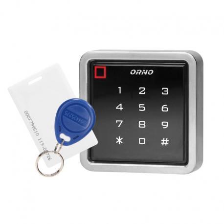 Orno Zamek szyfrowy dotykowy z czytnikiem kart i breloków zbliżeniowych, IP68, 1 przekaźnik 3A