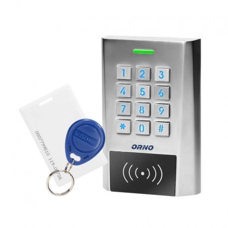 Orno Zamek szyfrowy szeroki z czytnikiem kart i breloków zbliżeniowych, IP66, 2 przekaźniki 2A , wymiary 114,5x75x21