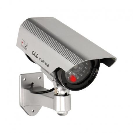 Orno Atrapa kamery monitorującej CCTV, bateryjna, srebrna
