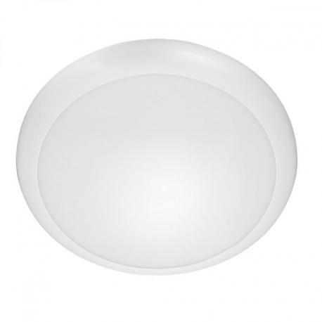 Orno LAPIS LED 12W, plafon oświetleniowy, 800lm, IP65, 4000K, IK10, poliwęglan mleczny, biały