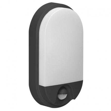 Orno NEFRYT LED 10W, oprawa ogrodowa z czujnikiem ruchu, 800lm, IP54, 4000K, czarna