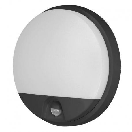 Orno AGAT LED 15W, oprawa ogrodowa z czujnikiem ruchu, 140st, 1100lm, IP54, 4000K, czarna