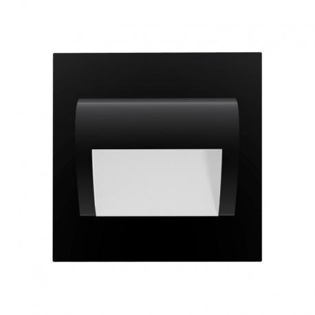 Orno DRACO LED NEW 1,5W, oprawa schodowa podtynkowa, 12VDC, 30lm, 3000K, czarny, innowacyjny sposób montażu