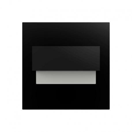 Orno TRACO LED 1,5W, oprawa schodowa podtynkowa, 12VDC, 30lm, 3000K, czarny, innowacyjny sposób montażu