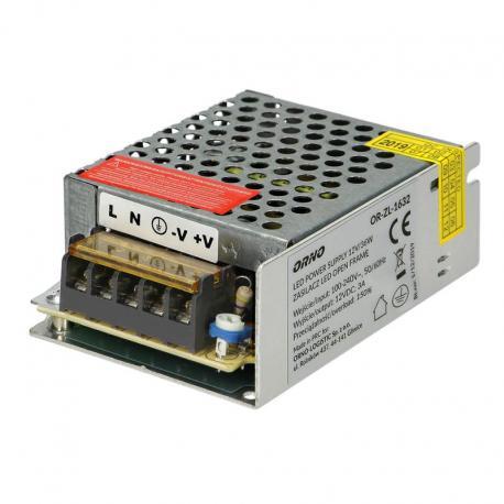 Orno Zasilacz open frame 12VDC 35W, IP20
