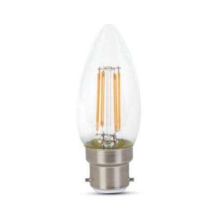 Żarówka LED V-TAC VT-222 Samsung Chip 4W B22 Candle 3000K 400lm A++ 300°