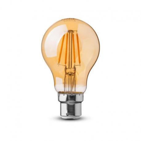 Żarówka LED V-TAC VT-228 Samsung Chip 4W B22 A60 2200K 350lm A+ 300°