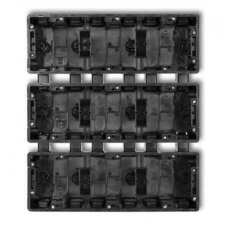 Karlik DECO Puszka instalacyjna podtynkowa 9 krotna (3 poziom, 3 pion) czarny DPM-3x3