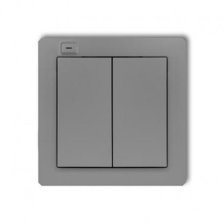 Karlik DECO Nadajnik 2-klawiszowy 4-kanałowy z czujnikiem temperatury do systemu Exta Life szary mat 27DEL-2
