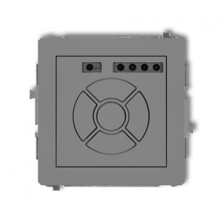 Karlik DECO Mechanizm elektronicznego sterownika roletowego (sterowanie lokalne i pilotem) szary mat 27DSR-2