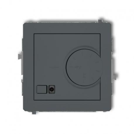 Karlik DECO Mechanizm elektronicznego regulatora temperatury z czujnikiem podpodłogowym grafitowy mat 28DRT-1