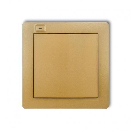 Karlik DECO Nadajnik 1-klawiszowy 2-kanałowy z czujnikiem temperatury do systemu Exta Life złoty 29DEL-1