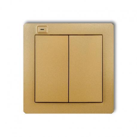 Karlik DECO Nadajnik 2-klawiszowy 4-kanałowy z czujnikiem temperatury do systemu Exta Life złoty 29DEL-2