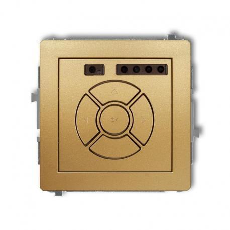 Karlik DECO Mechanizm elektronicznego sterownika roletowego (przycisk centralny/dodatkowy) złoty 29DSR-6