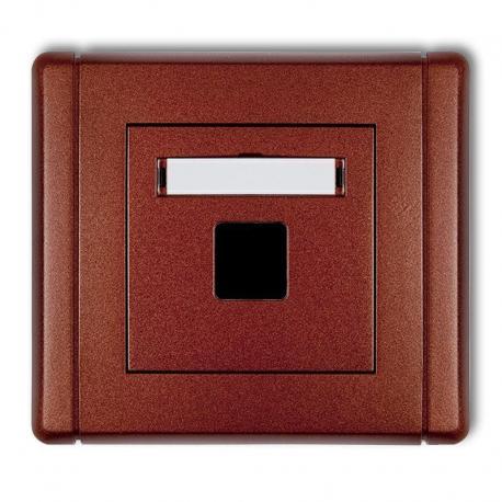 Karlik FLEXI Gniazdo multimedialne pojedyncze bez modułu (standard Keystone) brązowy metalik 9FGM-1P