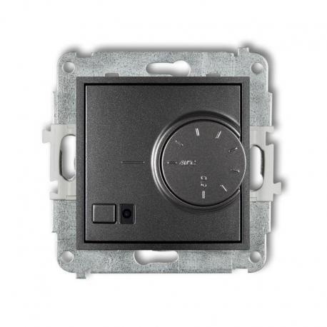 Karlik MINI Mechanizm elektronicznego regulatora temperatury z czujnikiem podpodłogowym grafitowy 11MRT-1