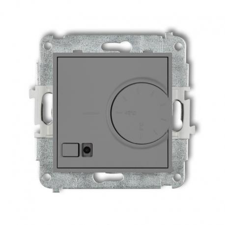 Karlik MINI Mechanizm elektronicznego regulatora temperatury z czujnikiem podpodłogowym szary mat 27MRT-1