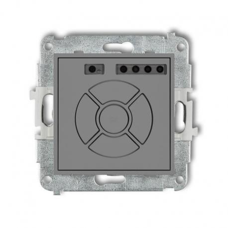 Karlik MINI Mechanizm elektronicznego sterownika roletowego (przycisk centralny/dodatkowy) szary mat 27MSR-6