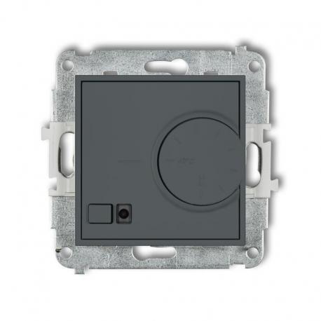 Karlik MINI Mechanizm elektronicznego regulatora temperatury z czujnikiem podpodłogowym grafitowy mat 28MRT-1