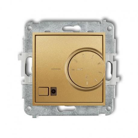 Karlik MINI Mechanizm elektronicznego regulatora temperatury z czujnikiem podpodłogowym złoty 29MRT-1