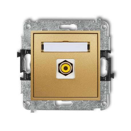 Karlik MINI Mechanizm gniazda pojedynczego RCA (typu cinch - żółty, pozłacany) złoty 29MGRCA-1